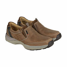 Clarks Skyward Free Mens Brown Nubuck Casual Dress Slip On Loafers Shoes