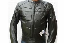ANC Gear Mens Casual Fashion Leather Motorcycle Black Jacket with Armour
