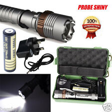 5000LM XM-L T6 LED 5 Modes Zoom Tactical Flashlight Torch Lamp&Battery Set Lot