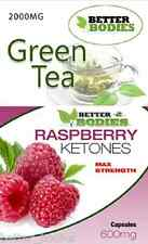 Raspberry Ketone 600mg Green Tea 2000mg Strong Extreme Strength Diet Weight loss