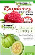 Raspberry Ketone 600mg Garcinia Cambogia 1000mg Strong Slimming Diet Weight Loss