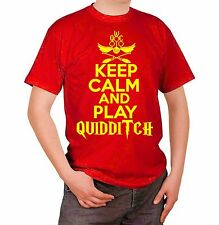 Maglia Harry Potter Keep Calm and Play Quidditch T-shirt Maglietta Film Movie