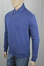 Polo Ralph Lauren Blue Shawl Collar Sweater Suede Elbow Patches NWT