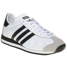 New Mens adidas White Country Og Nylon Trainers Retro Lace Up