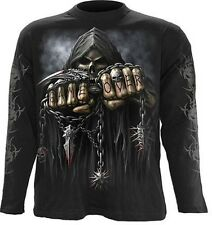 Spiral Game Over Langarm Shirt Top Gothic Totenkopf #3221 003