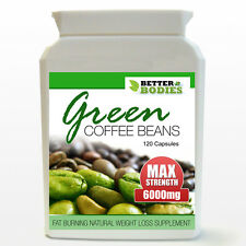 GREEN COFFEE BEAN EXTRACT MAX STRENGTH 6000mg WEIGHT LOSS SLIMMING DIET PILLS