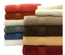 Super Soft and Absorbent 100% Plush Combed Cotton 6PC Solid Elegent Towel Sets