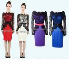 New Fashion Womens Sexy Lace Pencil Dress  Black Lace Lined Dress Clothes