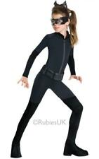 Girls Superhero Catwoman Fancy Dress Costume - Deluxe
