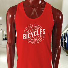 BICYCLES BIKE CYCLING ROAD MOUNTAIN SPORTS SPEED Mens Red Tank Top