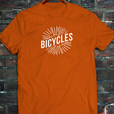BICYCLES BIKE CYCLING ROAD MOUNTAIN SPORTS SPEED Mens Orange T-Shirt
