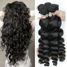 1/3/4 Bundle 7A Virgin Brazilian Human Hair Weave Loose Wave Hair Extension Weft