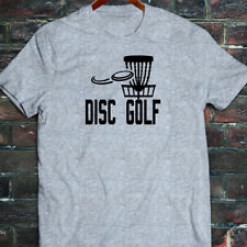 DISC GOLF FLYING DISC GAME TARGET PLAY FRISBEE Mens Gray T-Shirt