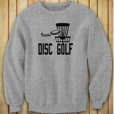 DISC GOLF FLYING DISC GAME TARGET PLAY FRISBEE Womens Gray Sweatshirt