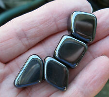 10 x STRONG MAGNETIC HEMATITE TUMBLESTONES STONES CRYSTALS * GIFT BAG & ID CARD