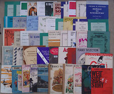 "SHEET MUSIC & BOOKLETS FOR THE PIANO, SOLOS, DUETS & SELECTIONS.   ""D"""