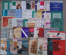 """SHEET MUSIC & BOOKLETS FOR THE PIANO, SOLOS, DUETS & SELECTIONS.   """"D"""""""