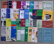 """SHEET MUSIC & BOOKLETS FOR THE PIANO - BEGINNERS.          """"F"""""""