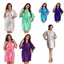 8999b20be19 Nine X Satin Dressing Gown Plus Size Lingerie Babydoll 8-26 Bride Children  Robe