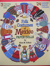 Colorful FOLK COSTUMES OF MEXICO Paper Doll Book by Alina Kolluri and PSP