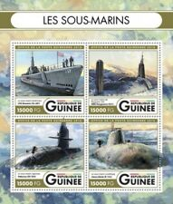 Guinea - 2016 Submarines on Stamps- 4 Stamp Sheet - GU16515a