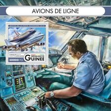 Guinea - 2016 Airliners on Stamps - Stamp Souvenir Sheet - GU16516b
