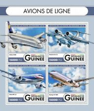 Guinea - 2016 Airliners on Stamps - 4 Stamp Sheet - GU16516a