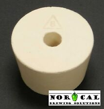 #8 Rubber Stopper Bung 1-10 Pcs No. 8 hole airlock air lock carboy wine beer