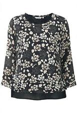 Adini CPG 294 Freya blouse black/taupe 3/4 sleeve REDUCED TO CLEAR!