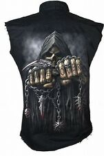 Spiral Game Over Worker Shirt Hemd Top Skull Gothic #3221 004