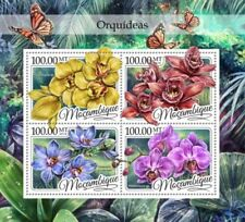 Mozambique - 2016 Orchids on Stamps - 4 Stamp Sheet - MOZ16417a