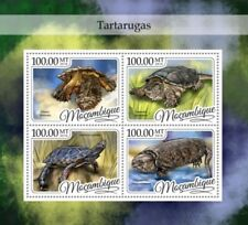Mozambique - 2016 Turtles on Stamps - 4 Stamp Sheet - MOZ16427a