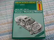 Haynes Manual for MERCEDES 190 PETROL 1987-1997