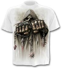 Spiral Game Over T Shirt Gothic Bike Reape weiss white #3221 042