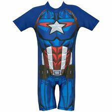 Captain America Swimsuit | Marvel Avengers Captain America Swimming Costume
