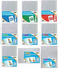 Punched Pockets A1 A2 A3 A4 A5 Wallets Clear Multi Punch Sleeves Filing {Tiger}