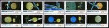 US Stamps 1991 Space Exploration 10 Stamp  Booklet Pane #2568-77