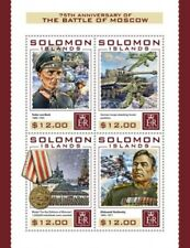Solomon Islands - 2016 Battle of Moscow - 4 Stamp Sheet - SLM16413a