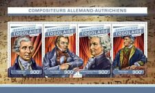 Togo - 2016 German Austrian Composers - 4 Stamp Sheet - TG16513a