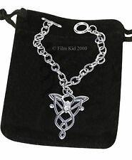 Arwen Evenstar PULSERA Hobbit LOTR Lord of The Rings Barra-T Cadena De Plata