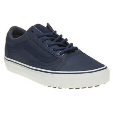 New Boys Vans Blue Old Skool Mte Canvas Trainers Lace Up