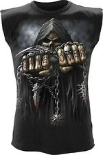 Spiral Game Over Tank Top Gothic Biker Shirt #3221 002