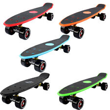 FunTomia Mini bordo Big Wheel Rotoli ABEC11 Skateboard Incrociatore LED 9 Farben