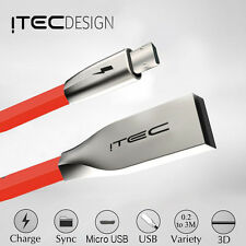 MICRO-USB 2.0 ITEC ZINC DATA SYNC CHARGER CHARGING CABLE LEAD FOR SAMSUNG RED