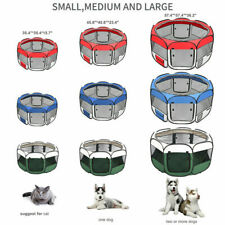 "36""45""57"" Dog Kennel Pet Fence Soft Oxford Playpen Protable Folding Crate"