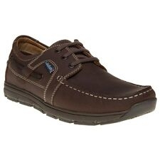 New Mens Chatham Marine Brown Byron Leather Shoes Boat Lace Up