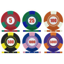 Tri-Gen Numbered Tournament Poker Chips & Poker Chip Sets, 12.5g Clay Composite
