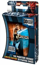 STAR WARS PLAYING CARDS LIMITED EDITION PHANTOM MENACE 3D COLLECTORS TIN