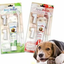 Pet Dog Toothpaste Finger Brush Toothbrush Puppy Oral Dental Tool Health 4 in 1