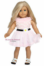 PINK FLORAL DRESS & SHOES Outfit made for 18 inch American Girl Doll Clothes